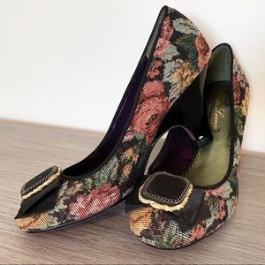 Floral, Tapestry Dress Heels by Poetic License